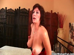 hairy grannies unload a cock on their face and