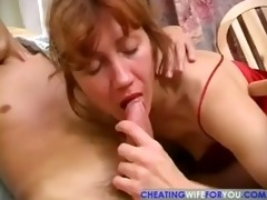 horny aged housewife acquires banged