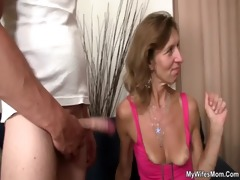 she is watches her old mom receives fucked