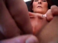 aged mature doxy spreads pussy gets fucked
