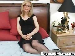 golden-haired mother i in glasses licking hard