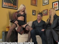 golden-haired mother i shows step-daughter how to