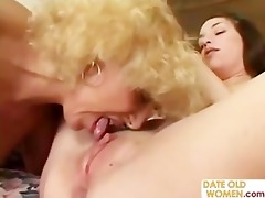 grandmother fucking young gal