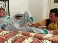 injured grandma gets healed by youthful dick