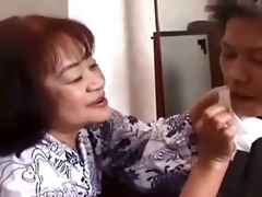 sixty year old asian lets young man finger her