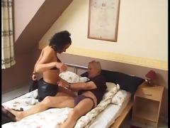 older man dips his wienie in some juvenile twat