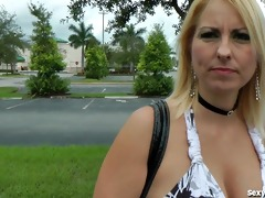 horny golden-haired milf can younger men