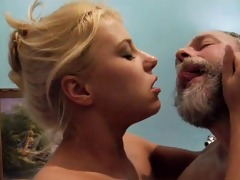 hot blonde acquires screwed old guy